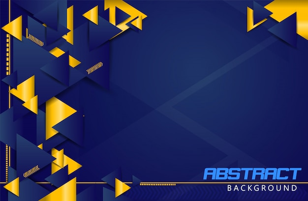 Abstract realistic background golden triangle shape vector
