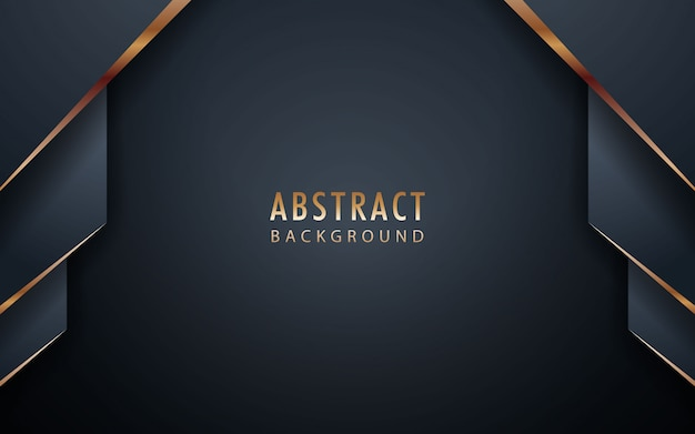 Abstract realistic black background with golden list