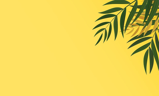 추상 현실적인 녹색 팜 리프 열 대 배경입니다.