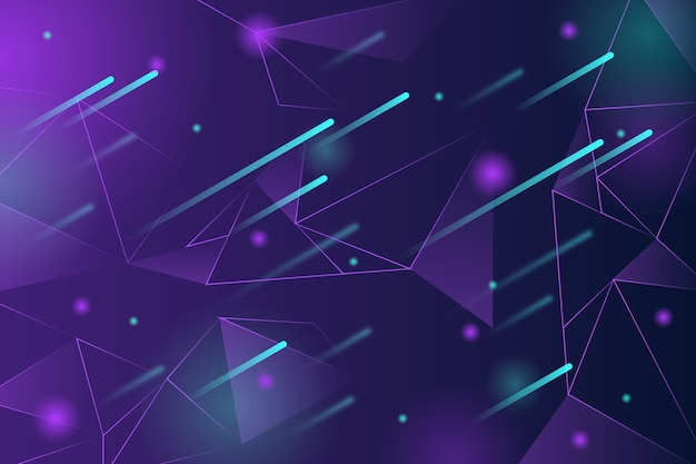 Abstract realistic technology particle background