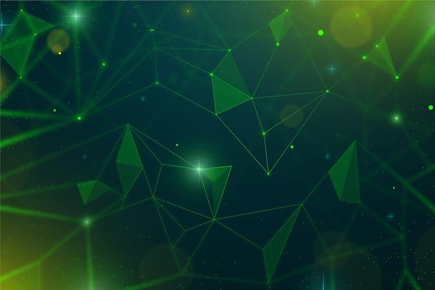 Fondo realistico astratto delle particelle di tecnologia