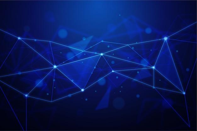抽象的な現実的な技術粒子の背景