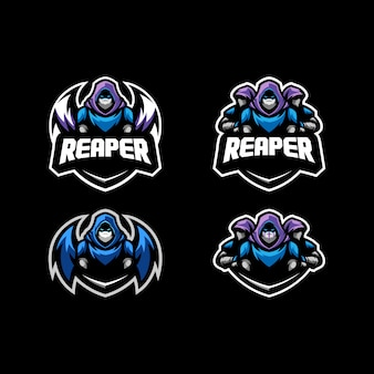 Abstract reaper concept illustration vector design template