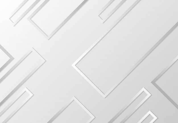 Abstract rectangle design of tech pattern with shadow grey background.