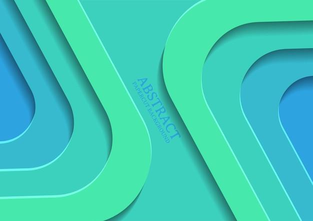 겹침 레이어가 있는 추상 사각형 페이퍼컷 디자인 배경, 3d 사각형 페이퍼컷 배경