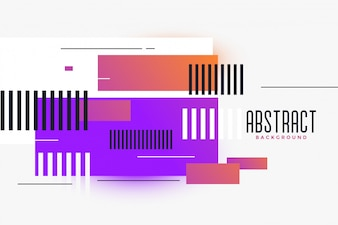 Abstract rectangles shapes vibrant background