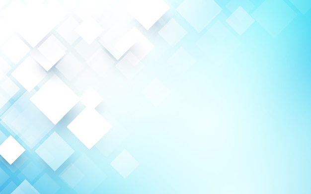 Abstract rectangles white and blue background