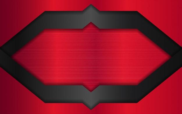 추상 빨간색과 검은 색 금속 모양 배경