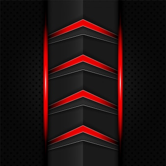 Abstract red and black tech arrows background