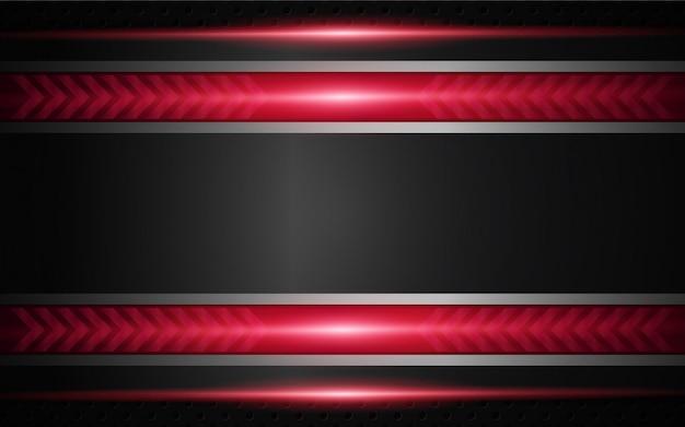 추상 빨간색과 검은 색 기술 배경