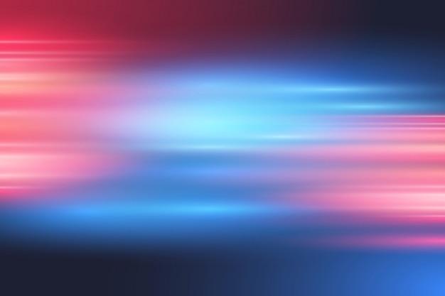 抽象的な赤と青のぼやけたライト