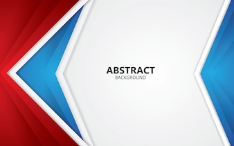 Abstract red and blue frame layout design