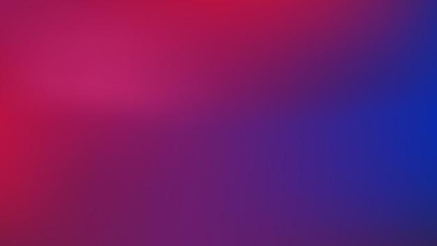 空白の滑らかでぼやけたマルチカラースタイルの抽象的な赤と青のグラデーションカラーの背景 Premiumベクター
