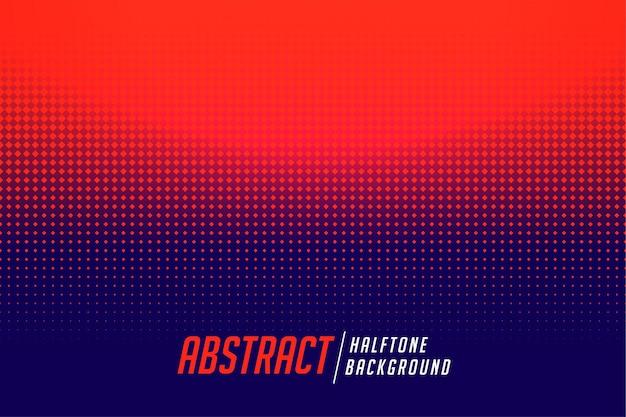 抽象的な赤と青のハーフトーンのグラデーションの背景
