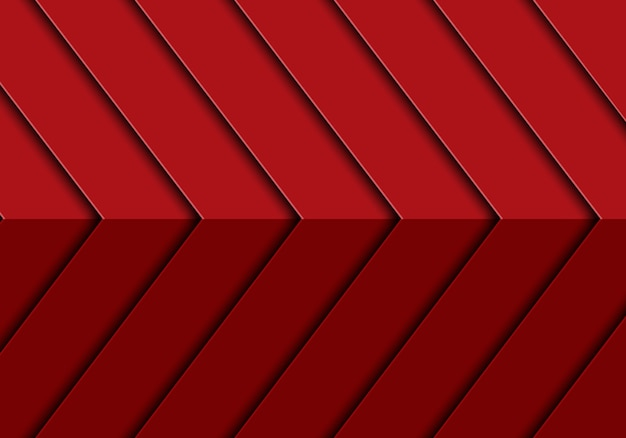 Abstract red arrow 3d pattern design modern futuristic background vector.