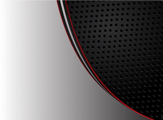 Abstract red arrow on dark gray circle mesh design modern futuristic background vector illustration.