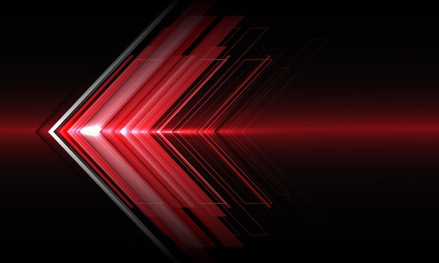 Abstract red arrow light direction speed on black technology futuristic design modern background .