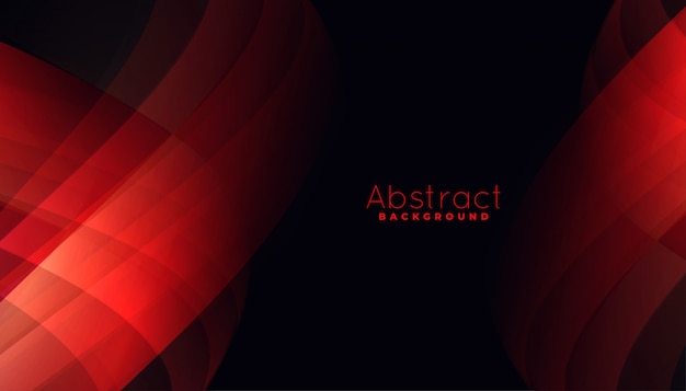 Abstract red background with curvy line shapes