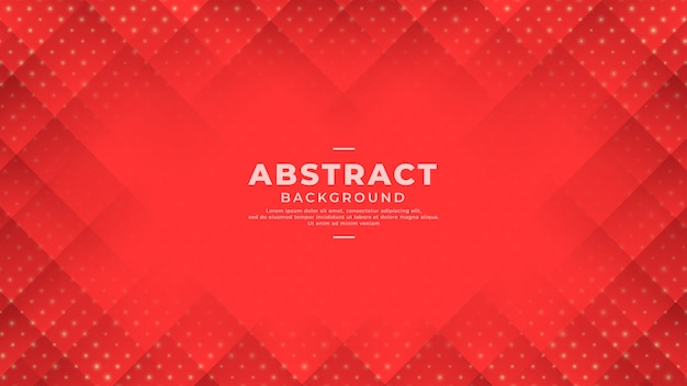 Abstract red background with gradient line and dots.