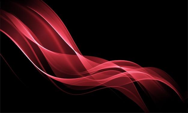 Абстрактный красный фон с эффектом освещения футуристический дизайн макета для презентаций плакатов flye ...