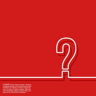Abstract red background with question mark