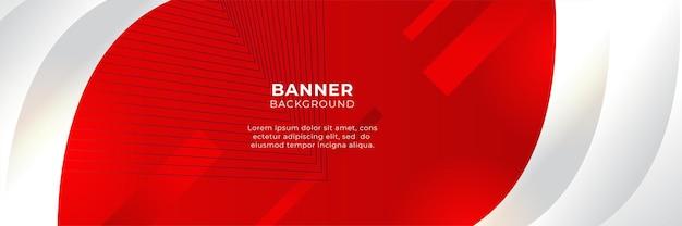 3dオーバーラップレイヤーと幾何学的な波形の抽象的な赤いバナー背景デザインテンプレートベクトルイラスト。多角形の抽象的な背景、テクスチャ、広告のレイアウトとwebページ