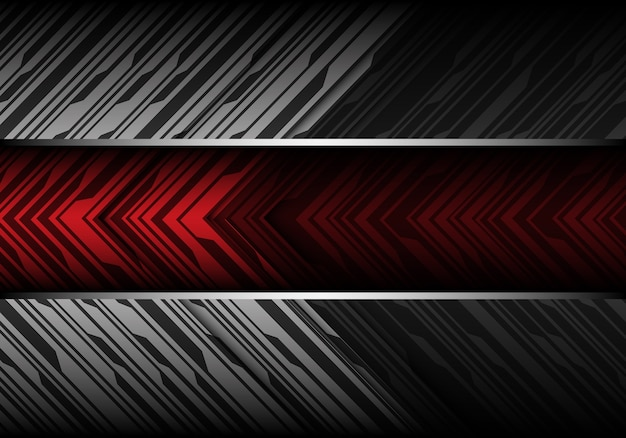 Абстрактный красный баннер на фоне серых тонов.