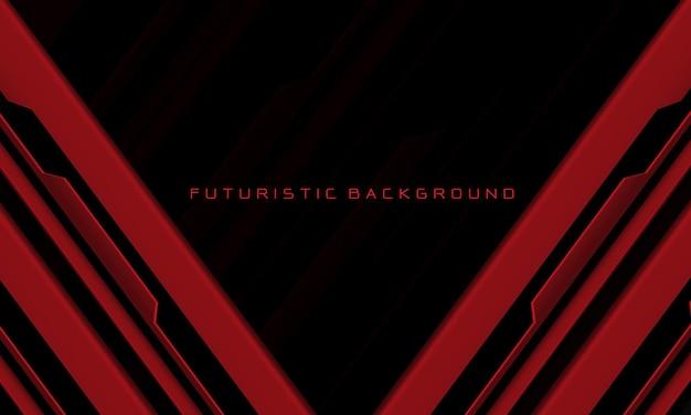 抽象的な赤黒回路サイバー幾何学的な線は、現代の未来的な技術の背景をスラッシュします