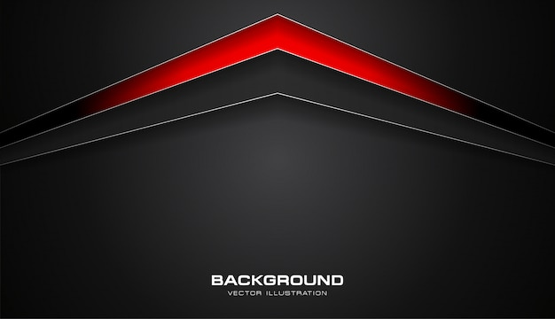 Abstract red and black color tech arrows vector background