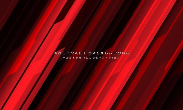 空白スペース現代の未来的な背景を持つ抽象的な赤黒サイバー幾何学的な線。