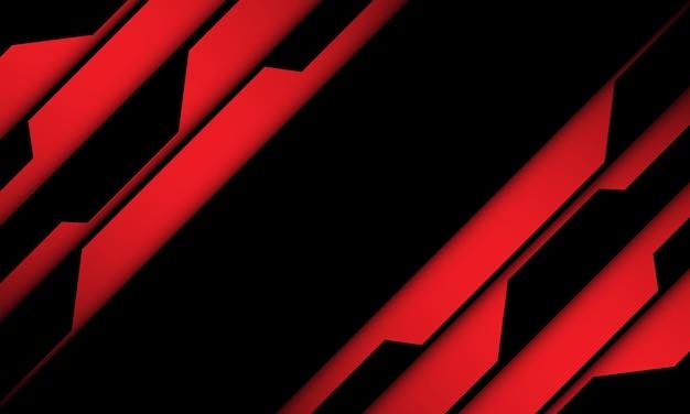 抽象的な赤黒サイバー幾何学的スラッシュ動的背景
