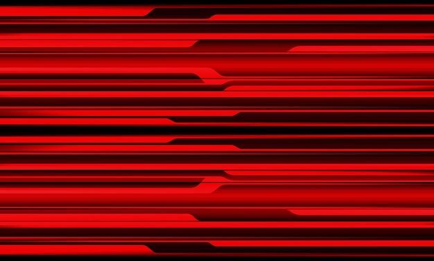 抽象的な赤黒メタリックシャドウ黒線サイバー幾何学模様デザインモダン未来