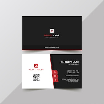 Abstract red business card template