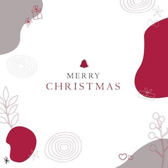 抽象的な赤いクリスマスの背景ベクトル