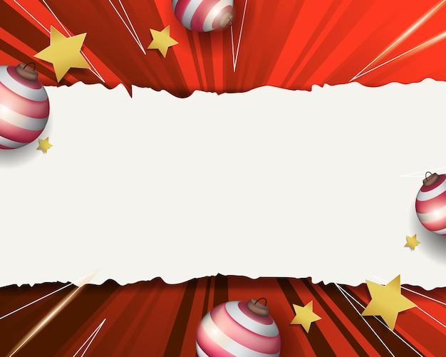 빈 종이 서식 파일 추상 빨간 크리스마스 배경