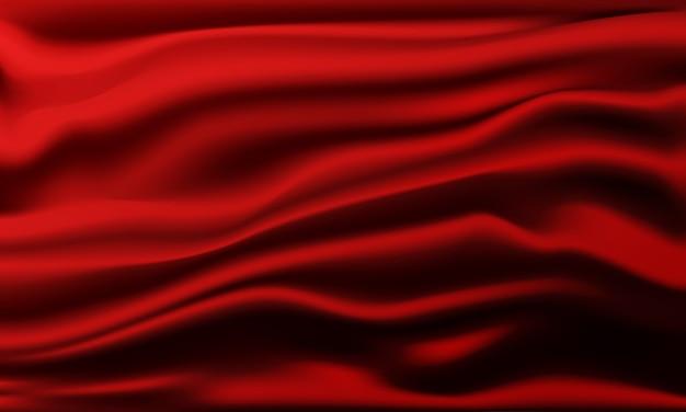 Абстрактный фон красной ткани.