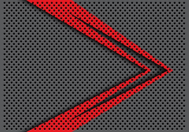 Abstract red color arrow direction