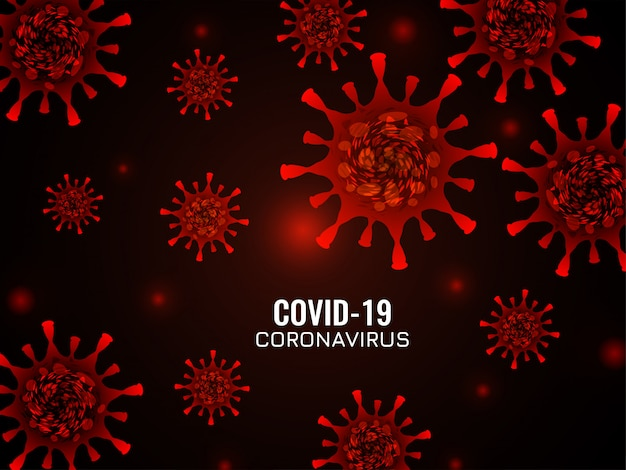 Fondo astratto del coronavirus di colore rosso