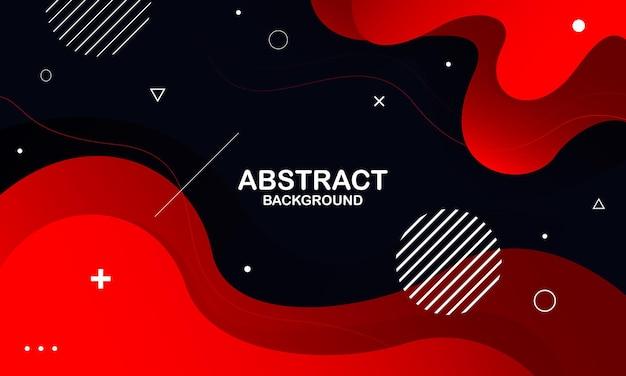 抽象的な赤い流体の形のモダンな背景