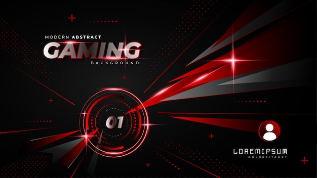 Abstract red futuristic ggming background