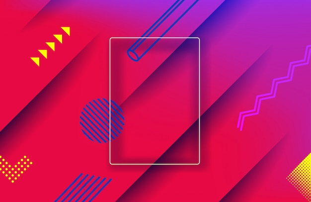 Abstract red geometric background. landing page template