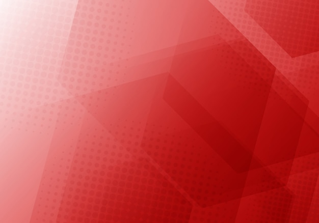 Abstract red geometric hexagons background