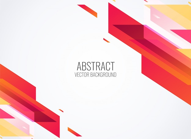 Abstract red geometric shapes background vector illustration