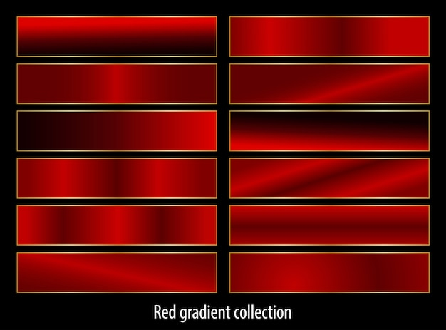 Abstract red gradients set collection