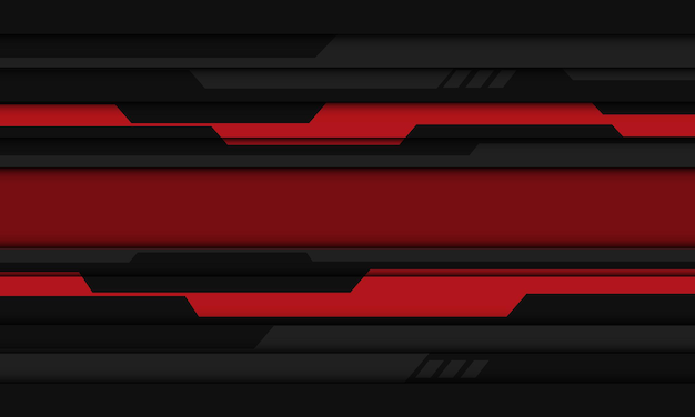 抽象的な赤灰色黒サイバー幾何学的デザイン現代の未来的な技術の背景