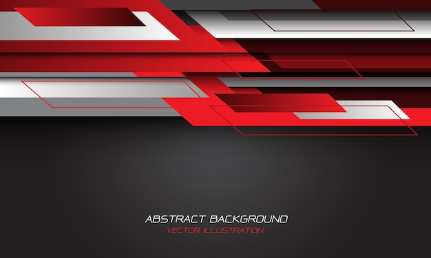 Abstract red grey geometric blank space design modern futuristic background.