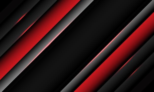 空白の空白スペースモダンな未来的な背景と幾何学的な抽象的な赤灰色のメタリックオーバーラップレイヤースラッシュ