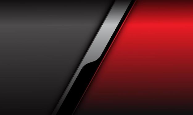 抽象的な赤灰色銀黒サイバースラッシュシャドウデザイン現代の未来的な技術の背景