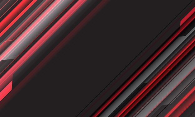 空白のスペースデザインモダンな未来的な背景を持つ抽象的な赤灰色スピードライン幾何学的サイバー回路