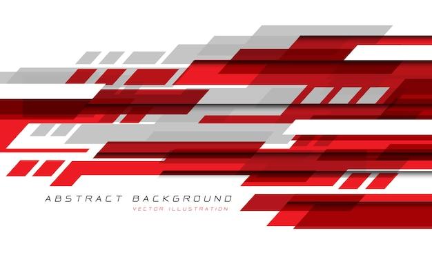 Абстрактный красный серый белый геометрическая скорость технологии футуристический дизайн.